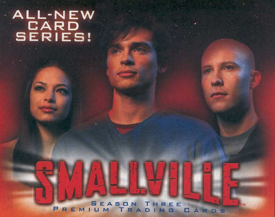 SMALLVILLE TRADING CARDS ADVERTISING IN PREVIEWS MAGAZINE